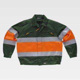 Verde Oscuro + Naranja A.V