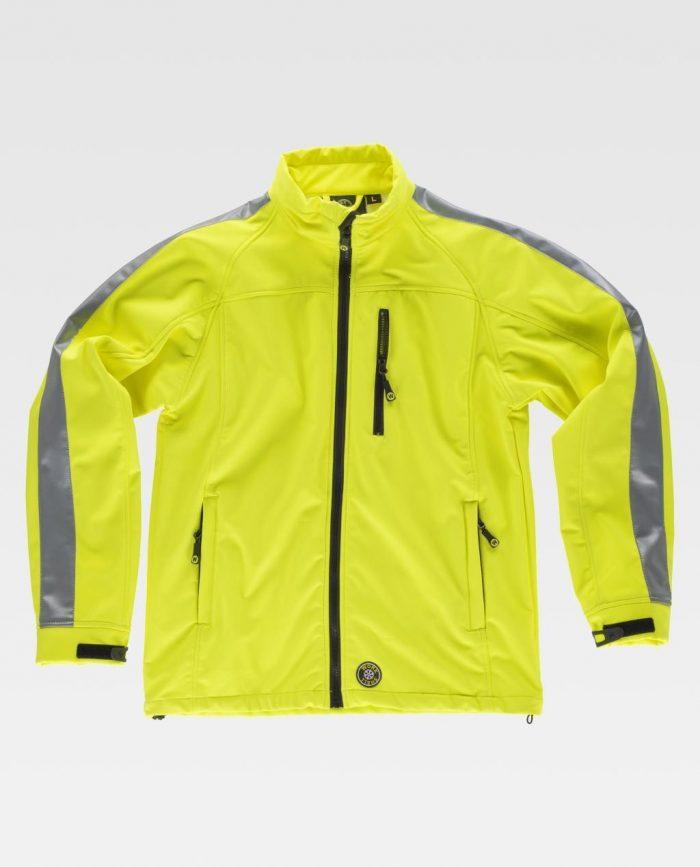 chaqueta softshell alta visibilidad workteam
