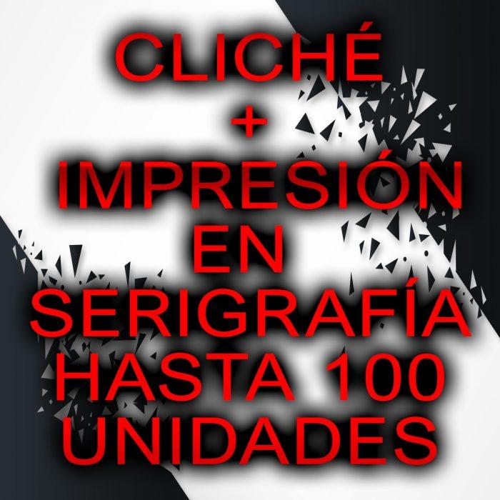 IMPRESIÓN EN SERIGRAFÍA HASTA 75 UNIDADES