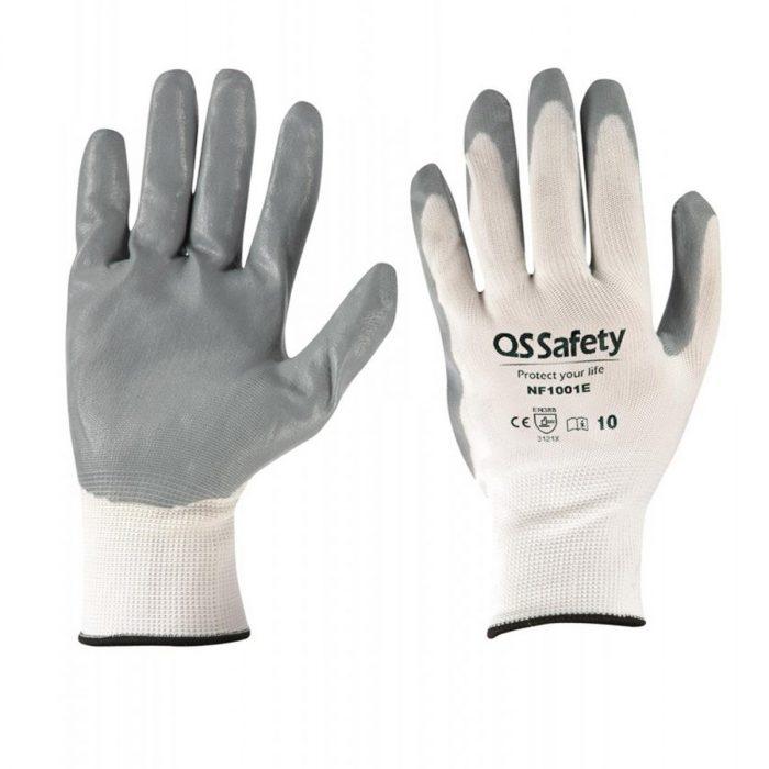 guantes de trabajo nitrilo gris